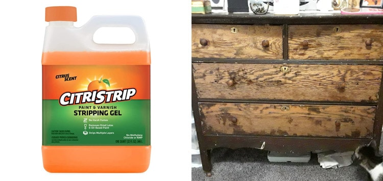 1. Citri-Strip Paint And Varnish Stripping Gel [1 Quart]