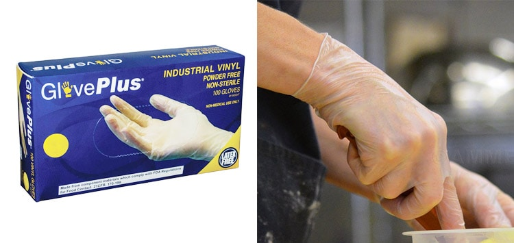 Disposable Latex or Vinyl Gloves