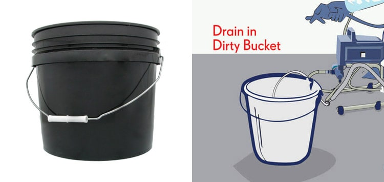 Large Buckets For Cleaning Your Paint Sprayer