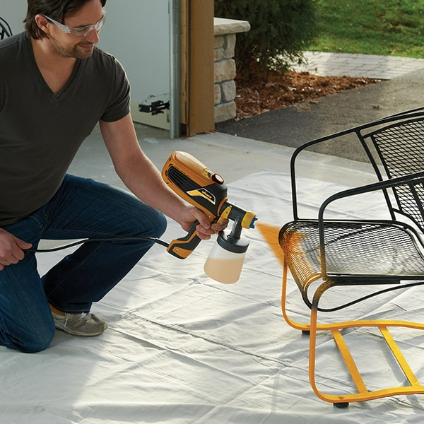 Spraying Furniture with a Handheld Sprayer