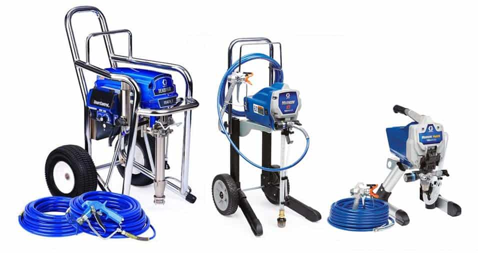 Different sized paint sprayers