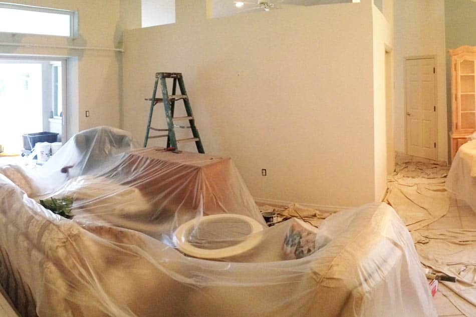 Covering Furniture for Painting