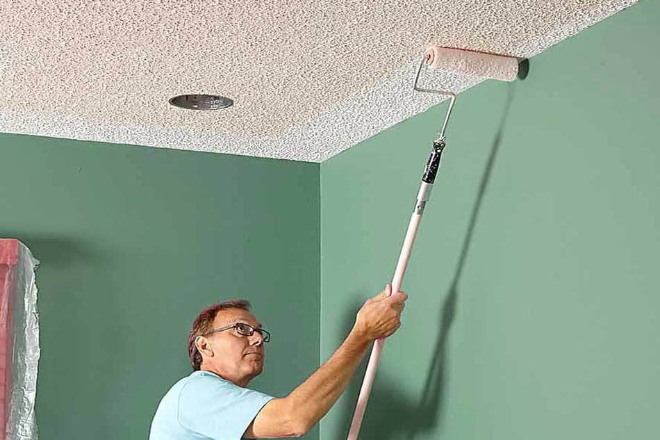 Painting Popcorn Ceiling with a Roller