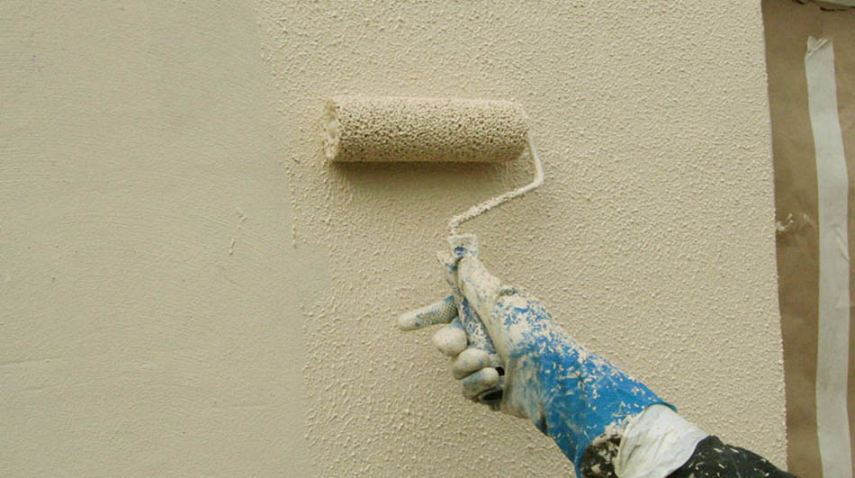 Using a Roller on Exterior Walls