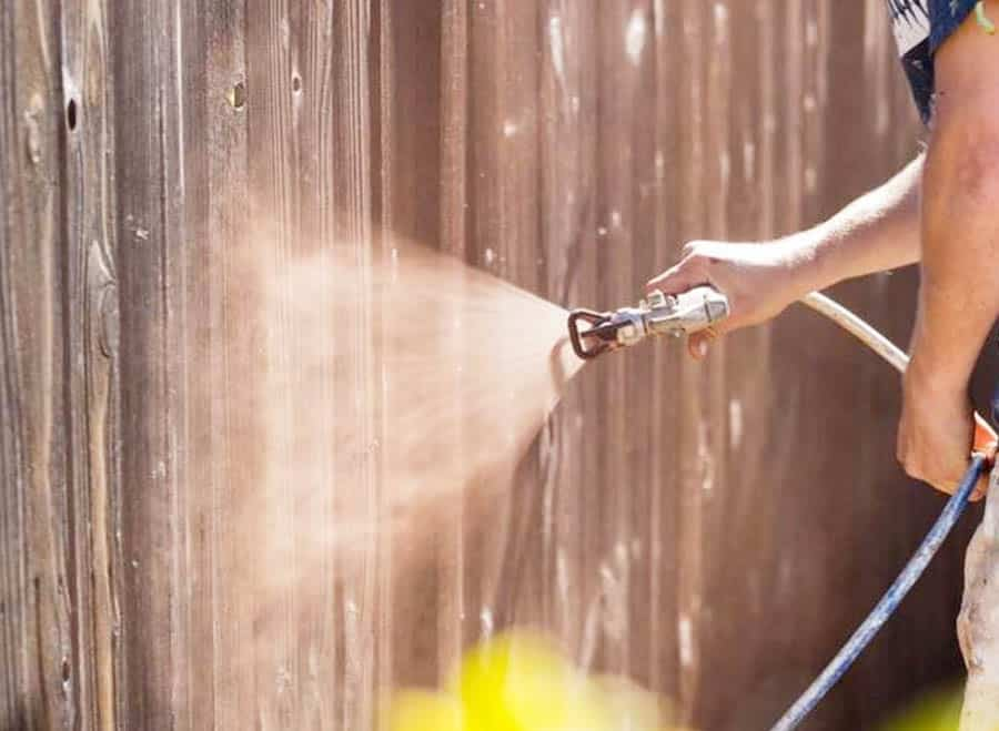 Using a Paint Sprayer Outside