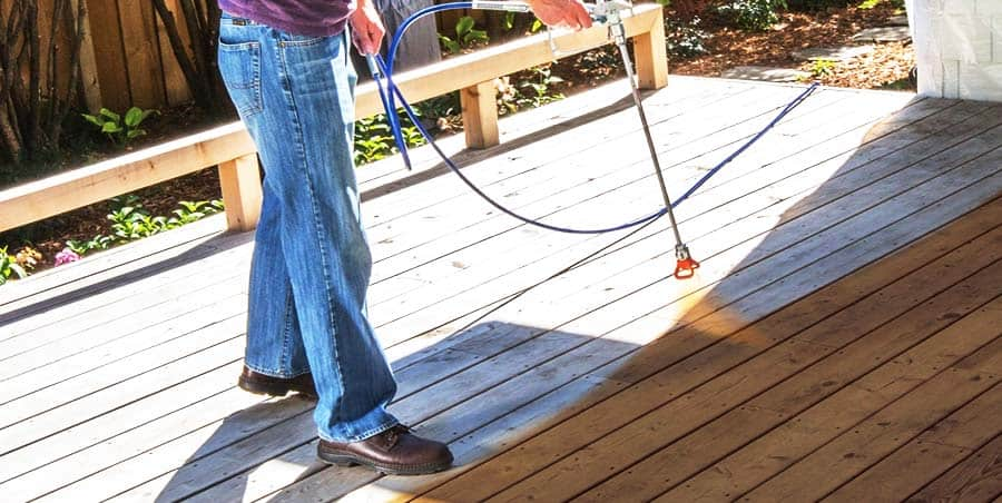 Spraying a Deck with a Graco Paint Sprayer
