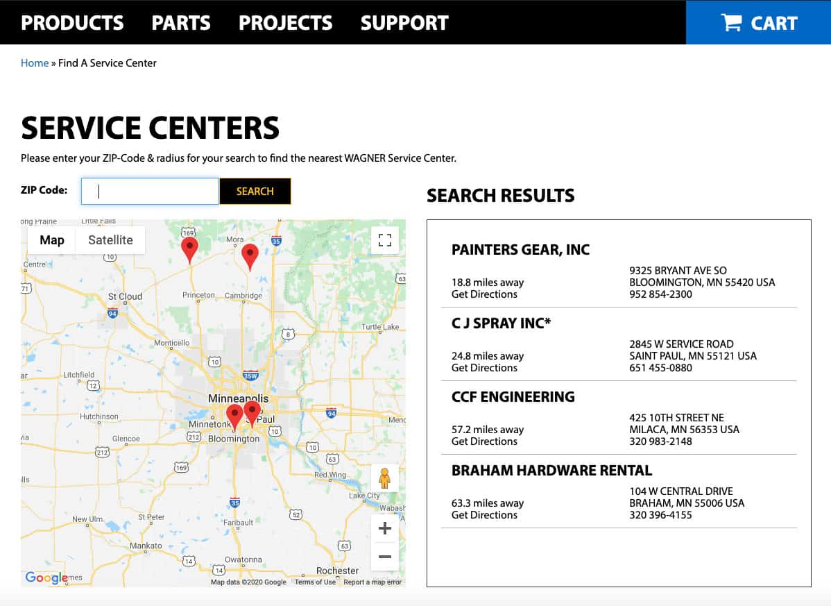 Official Wagner Service Centers
