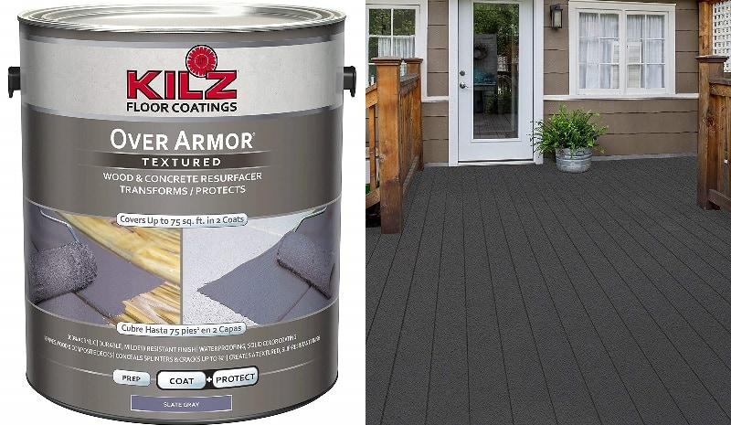 KILZ Over Armor Textured Wood Concrete Coating