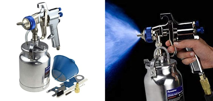 33 oz Siphon Feed Spray Gun - 2.5mm Nozzle for Spraying Oil-Based or Latex Paints