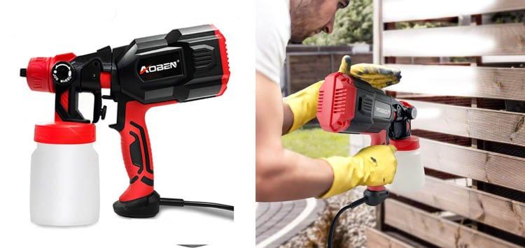 AOBEN Paint Sprayer, 550 Watt High Power HVLP Spray Gun