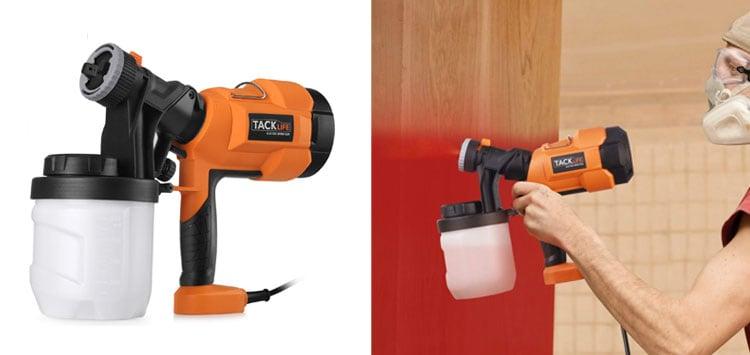 Hvlp Paint Sprayer 800ml min, Electric Spray Gun with 3 Spray Patterns