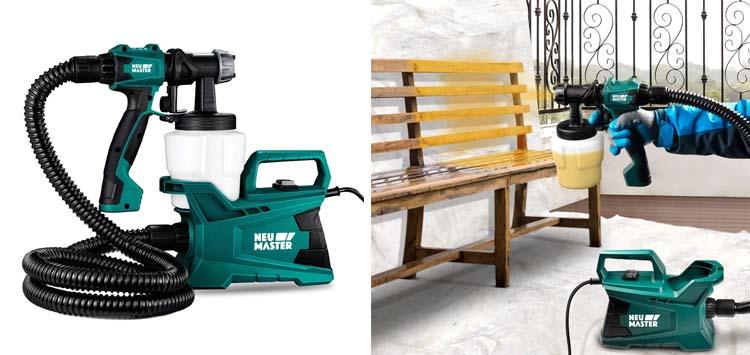 Paint Sprayer, NEU MASTER 600 Watt High Power HVLP Home Electric Paint Spray Gun
