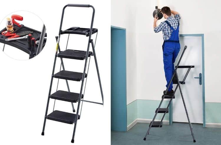 Finether 4-Step Platform Ladder