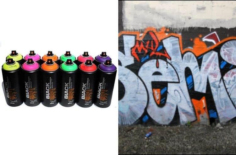 Montana BLACK Set of 12 Graffiti Fluorescent Spray Paint