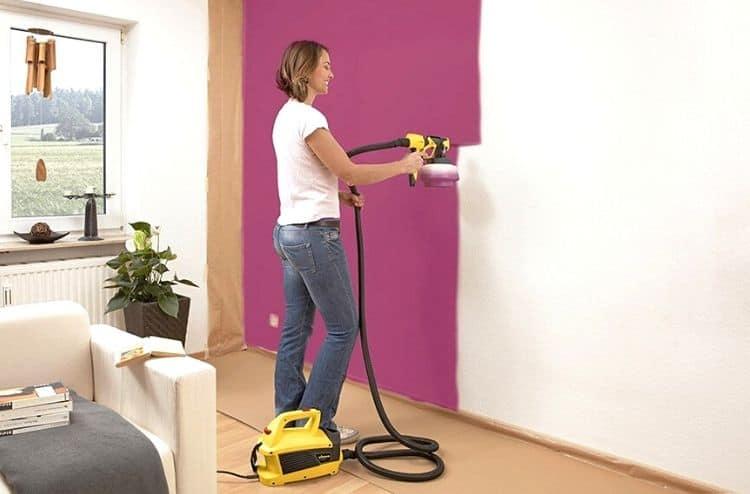 How does a paint sprayer work?