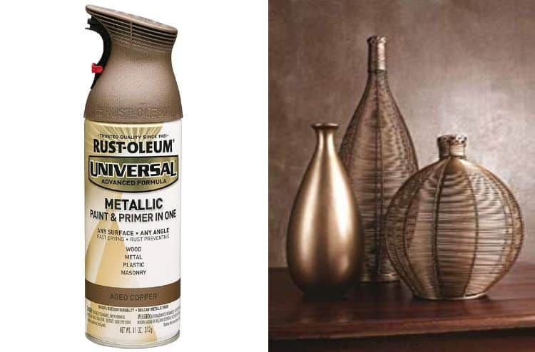 1) Rust-Oleum 249132 Universal Metallic Spray Paint: When it comes to spray paints, Rust-Oleum is one of the more popular and preferred brands out there. Rust-Oleum 249132 is the ideal spray paint for metal surfaces, whether inside your house or outside. One of the main reasons that this spray paint is recommended by experts is that you get primer and paint in a single can. This eliminates the need for you to prime your surface before you can start painting, thus saving considerable time. Secondly, when you are using Rust-Oleum's Universal Metallic Spray Paint, you are not only beautifying your metal furniture but also strengthening it. The pint is chip and UV resistant and fade- and rust-proof. Basically it can resist all kinds of weather elements and last for years. The spray paint tin is ergonomically designed. It features a 2 finger comfort-grip trigger and a drip guard. So, you get better control, an ability to paint upside down if you want and lesser finger fatigue.
