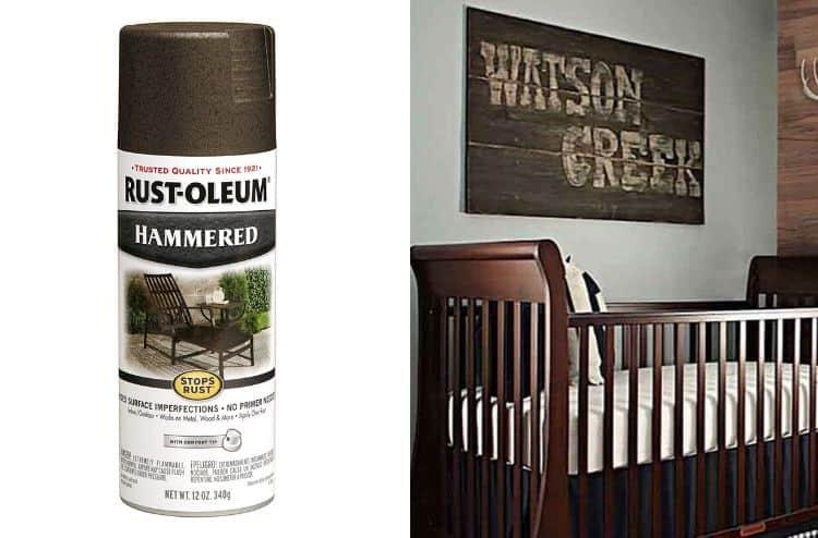Rust-Oleum 7218830-6 PK Hammered Finish Spray Paint