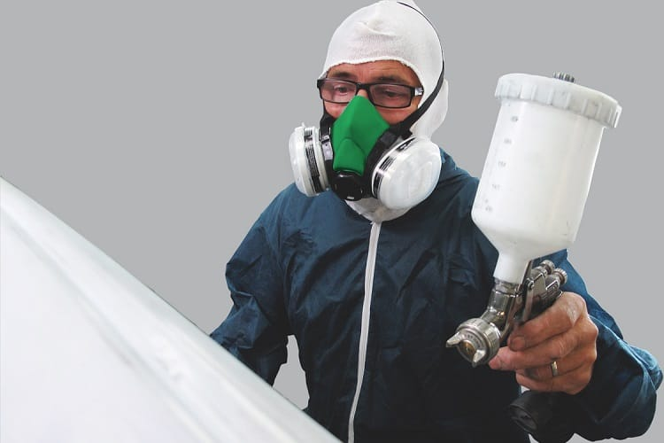 Spray painting protective gear