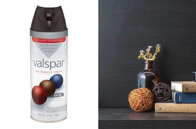 Valspar 410-85049 SP Black Satin Premium Enamel Spray Paint