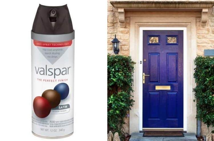 Valspar Black Satin Premium Enamel Spray Paint