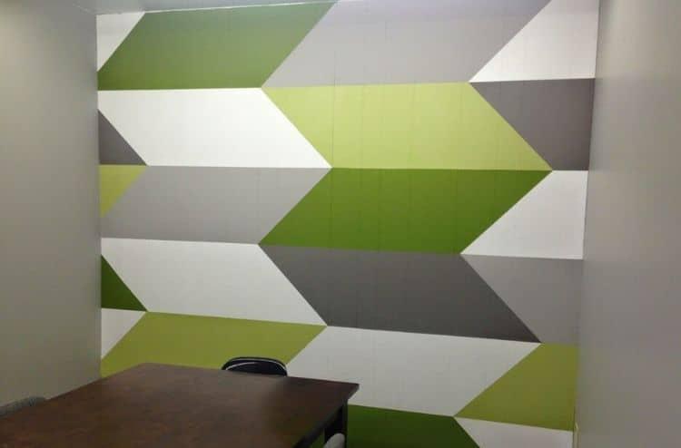 Chevron tape wall design