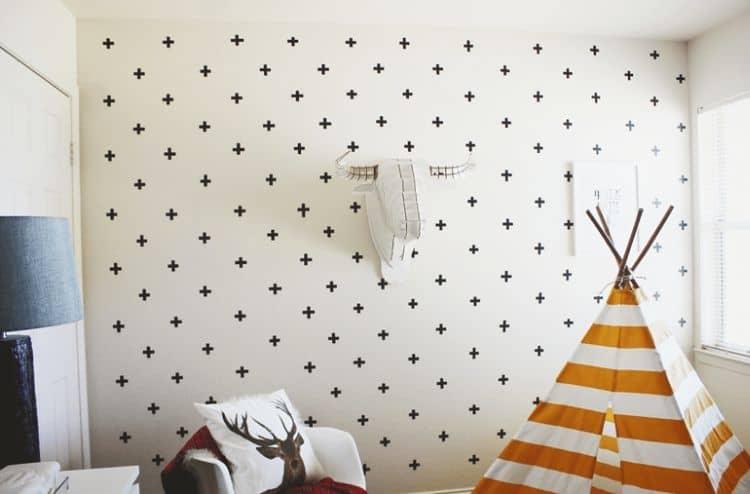 7. Confetti painter's tape Design