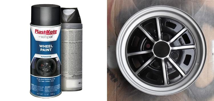 Best In-Between Finish- Plastikote Semi-Gloss Black Wheel Paint
