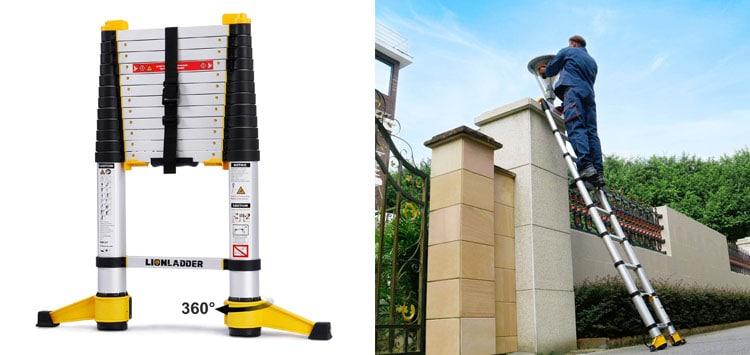 Best Upgraded Design- Lionladder 12.5 Foot Extension Ladder