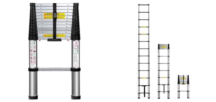 Easiest to Use- Oxgord 12.5 Feet Extending Ladder