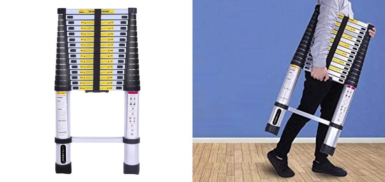 Most Adjustable- Luisladders 15.5 Feet Extend Ladder