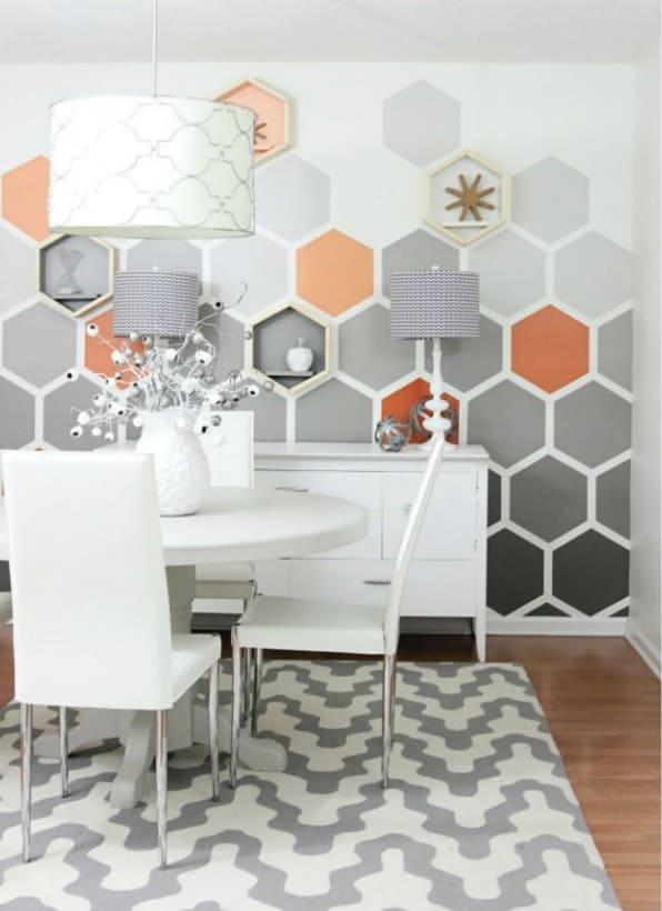 DIY Hombre Hexagon Wall Design