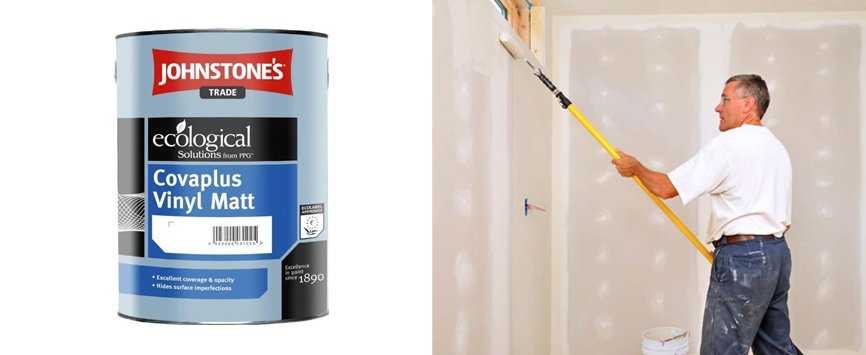 Best Coverage-Johnstones 5 Litre Brilliant White Trade Paint