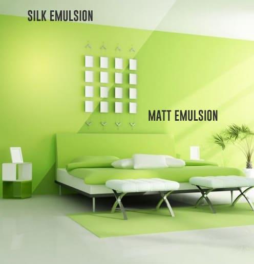 Matt vs Silk Paint Comparison